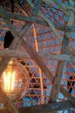 Oosterse Hanenmandlamp XXL Diq Detail aan