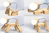 Dog lamp wood