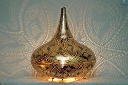 Oriental Lampe Yair XL Gold