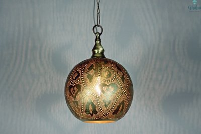 Oosterse lamp Misr aan